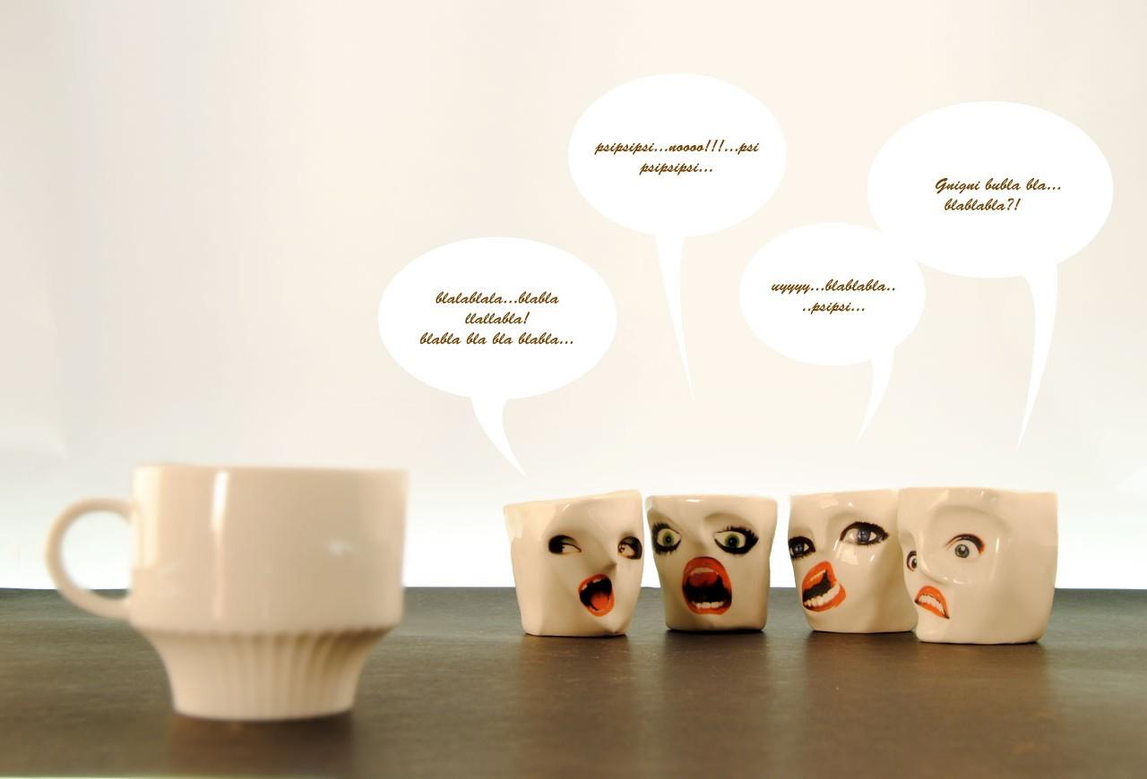 tazas para el café con caras