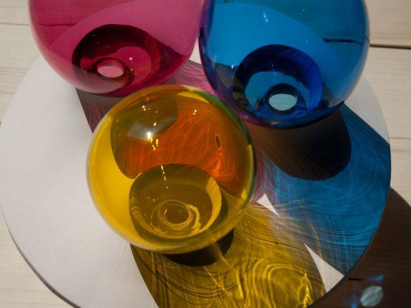Escultura en vidrio soplado y cerámica para boda